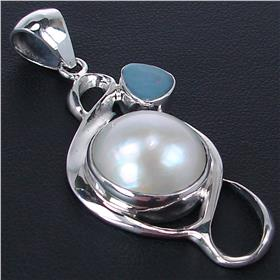 Fancy Pearl Sterling Silver Pendant