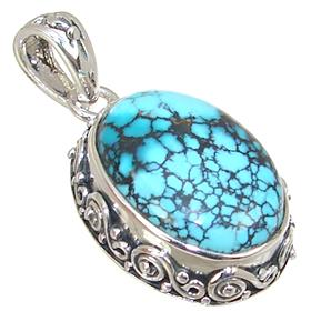 Designer Turquoise Sterling Silver Pendant