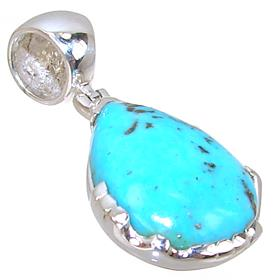 Designer Turquoise Sterling Silver Pendant