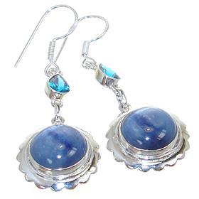 Rare Kyanite Sterling Silver Earrings