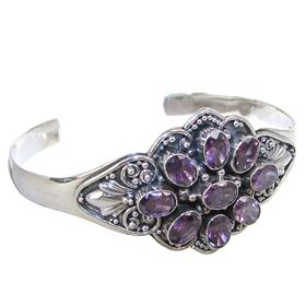 Purple Quartz Sterling Silver Bracelet Bangle
