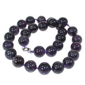 Amethyst Fashion Necklace 18 inches long