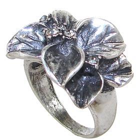 Glamorous Flower Fashion Ring size N 1/2