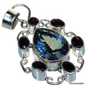 Mystic Topaz  925 Silver Pendant Jewellery