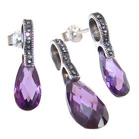 Purple Quartz Sterling Silver Set