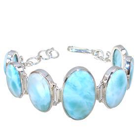 Fabulous Larimar Sterling Silver Bracelet