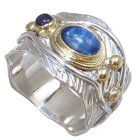 Designer Kyanite Sterling Silver Ring Size O