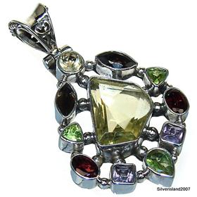 Sunny Citrine  925 Silver Pendant Jewellery