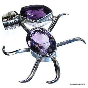 Amethyst Sterling Silver Pendant Jewellery