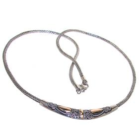 Elegant Bali Sterling Silver Necklace lenght 18 inches