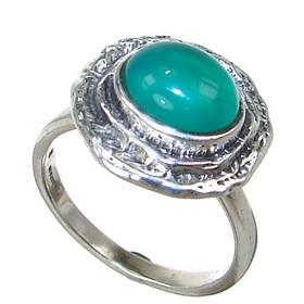 Botswana Agate Sterling Silver Ring size N 1/2