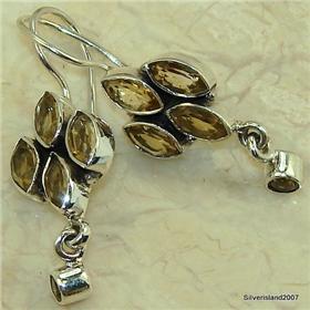 Fantastic Citrine Sterling Silver Earrings
