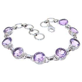 Purple Quartz Sterling Silver Bracelet