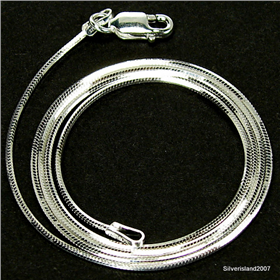 Fancy Snake Sterling Silver Chain 18 inches long