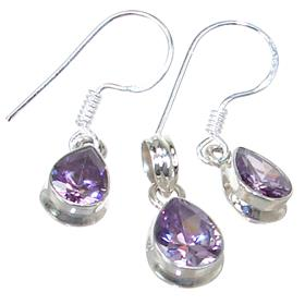 Purple Quartz Sterling Silver Set