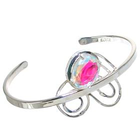 Stunning Fire Quartz Sterling Silver Bracelet Bangle