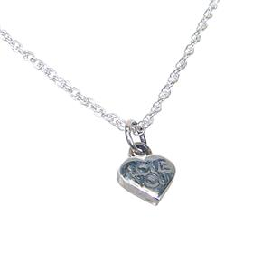 Heart Plain Sterling Silver Necklace lenght 18 inches
