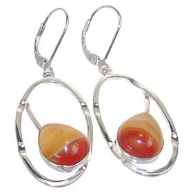 Fancy Agate Sterling Silver Earrings