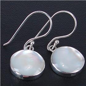 Fancy Shell Sterling Silver Earrings