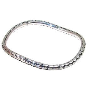 Solid Plain Sterling Silver Bracelet Bangle