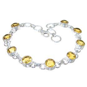 Sunny Quartz Sterling Silver Bracelet