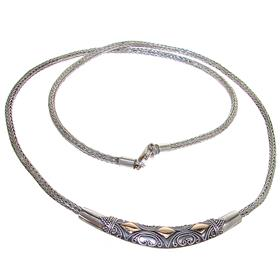 Elegant Bali Sterling Silver Necklace lenght 16 inches