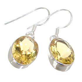 Sunny Quartz Sterling Silver Earrings