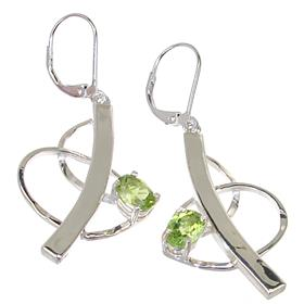 Royal Peridot Sterling Silver Earrings