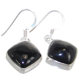 Elegant Onyx Sterling Silver Earrings Stud