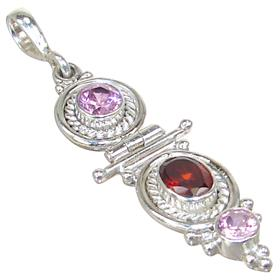 Royal Garnet Sterling Silver Pendant