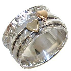 Modern Solid Plain Sterling Silver Ring size Q 1/2