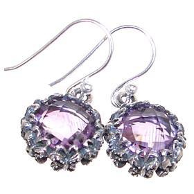 Spendid Amethyst Sterling Silver Earrings