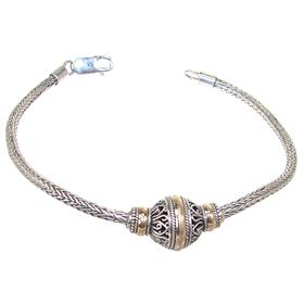 Elegance Bali Plain Sterling Silver Bracelet
