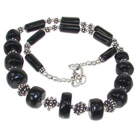 Elegant Onyx Fashion Necklace 18 inches long