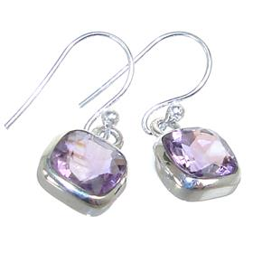 Spendid Amethyst Sterling Silver Earrings