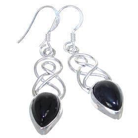 Elegant Onyx Sterling Silver Earrings Stud
