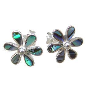 Abalone Sterling Silver Earrings Stud