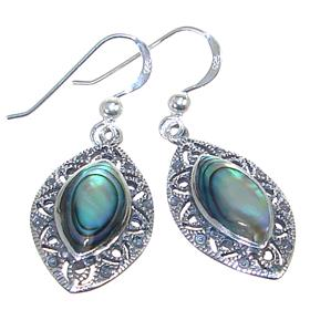 Rainbow Abalone Sterling Silver Earrings