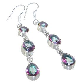 Mystic Quartz Sterling Silver Earrings