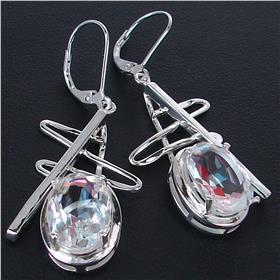 Fire Quartz Sterling Silver Earrings