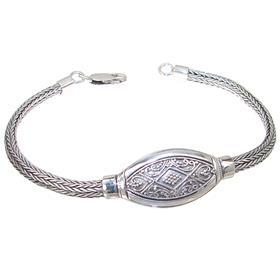 Bali Design Plain Sterling Silver Bracelet