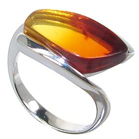 Baltic Amber Sterling Silver Gemstone Ring size K
