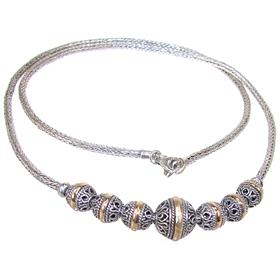 Elegant Bali Sterling Silver Necklace length 18 inches