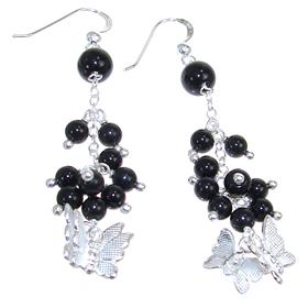 Elegant Onyx Sterling Silver Earrings