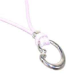 Plain Sterling Silver Necklace length 27 inches
