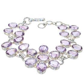 Royal Amethyst Citrine Sterling Silver Bracelet
