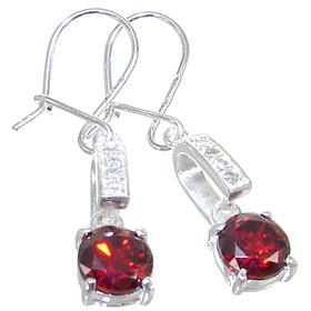 Red Quartz Sterling Silver Earrings