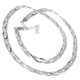 Elegant Sterling Silver Necklace length 20 inches