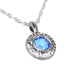 Blue Quartz Sterling Silver Necklace 18 inches long