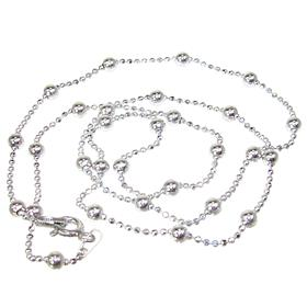 Ball Sterling Silver Chain 18 inches long